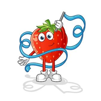 Erdbeer-rhythmische gymnastik