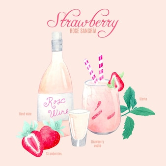 Erdbeer-rose-sangria-cocktail-rezept