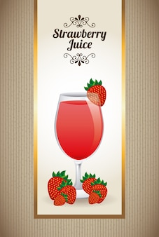 Erdbeer-saft auf beige