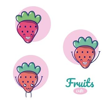 Erdbeer süße früchte cartoons