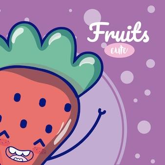 Erdbeer süße obst cartoons