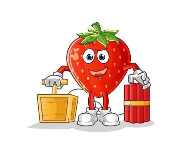Erdbeere, die dynamitzündercharakter hält