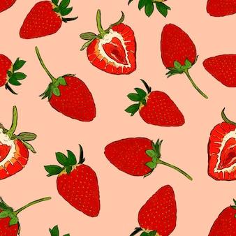 Erdbeere im nahtlosen muster