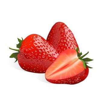 Erdbeere isoliert