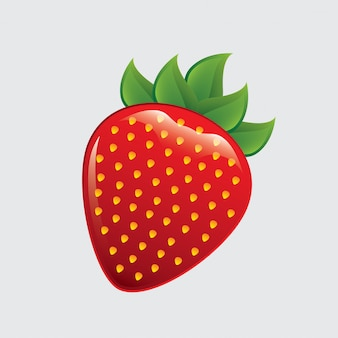 Erdbeere mit hellem
