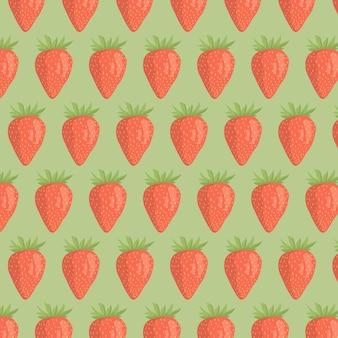 Erdbeere nahtloses muster