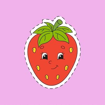 Erdbeere.