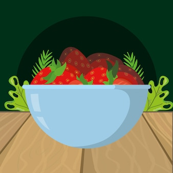 Erdbeerekarikatur der frischen früchte