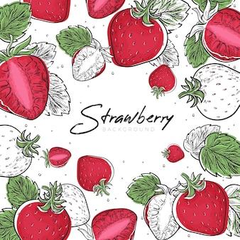 Erdbeerfrucht-hintergrund