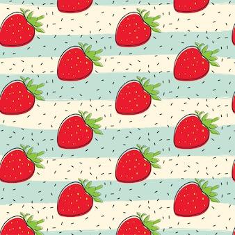 Erdbeerfrucht-musterhintergrund
