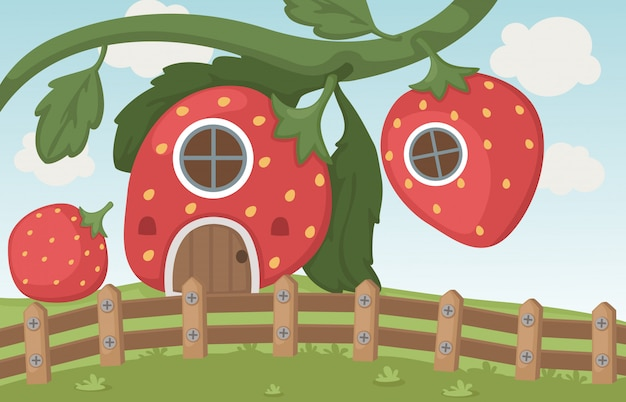 Erdbeerhaus