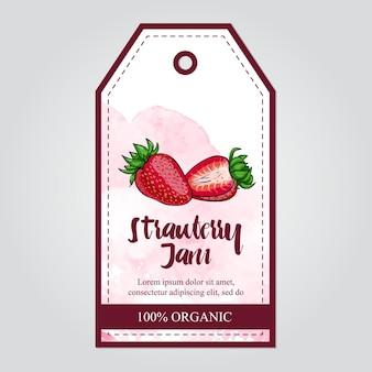 Erdbeermarmeladensammlung