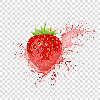 Erdbeersaftspritzer.