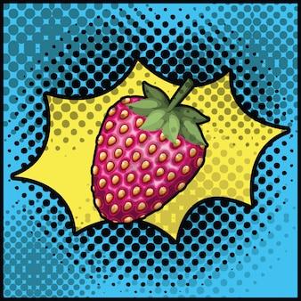 Erdbeersüße pop-art-stil