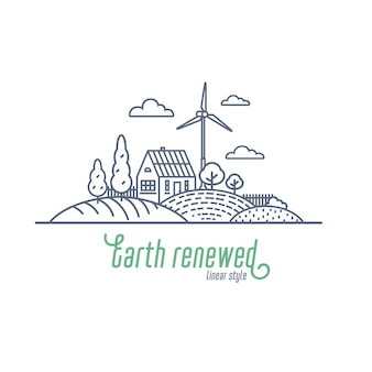 Erde erneuertes konzept