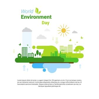 Erde Green City Weltumwelttag