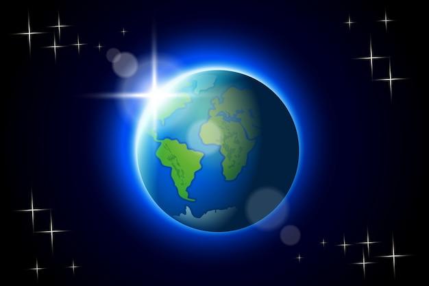 Erde im dunkeln