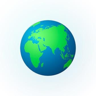 Erde in form eines globus