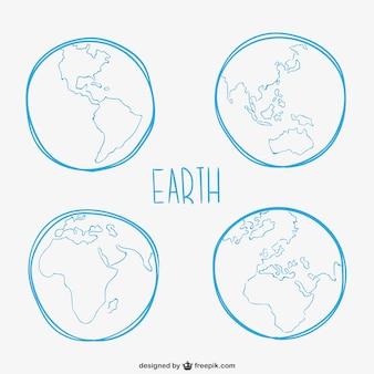 Erde skizzen