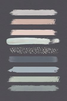 Erdfarbene pinselstriche