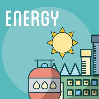 Erdgas-energie-fabrik