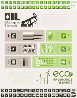 Erdölindustrie infographik vorlage