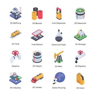 Erdölraffinerie icons