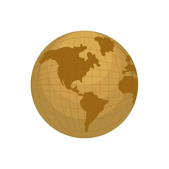 Erdplanetenentwurf der Geografie globales