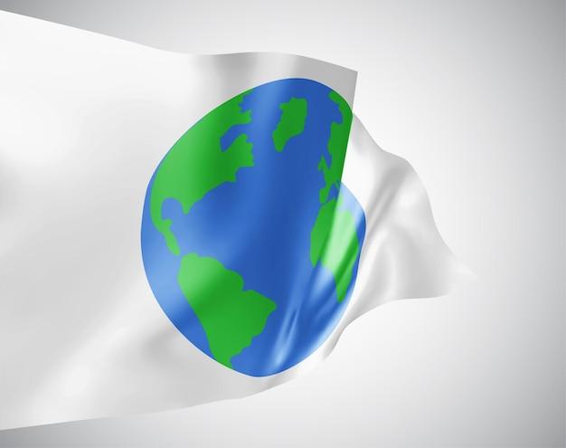Erdschutz-vektorflagge auf weißem hintergrund