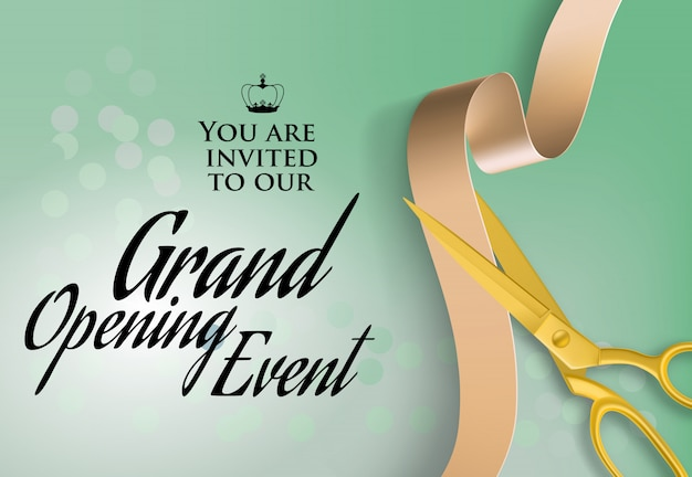 Ereigniserklärungstext der großartigen öffnung auf einladung