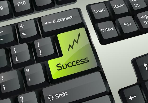 Erfolg beim schreiben der eingabetaste