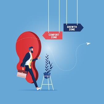Erfolg, karriere, selbstverbesserung, moderne flache illustration