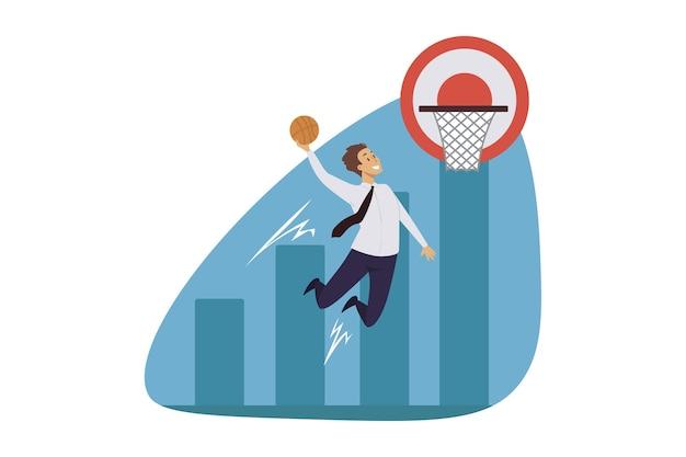 Erfolgreiche sportliche illustration
