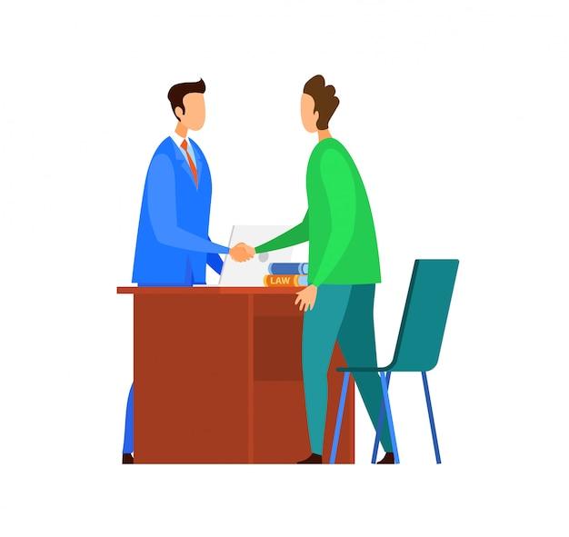 Erfolgreiche verhandlungen, vereinbarung illustration