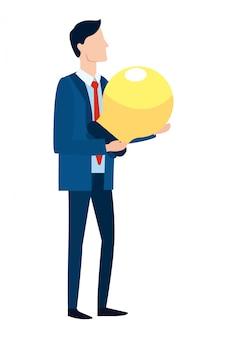 Erfolgreicher geschäftsmann-avatar-cartoon