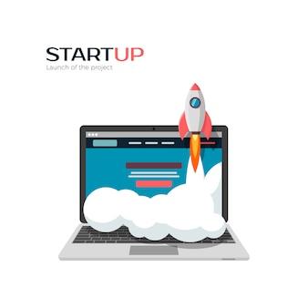 Erfolgreicher start des startup-projekts