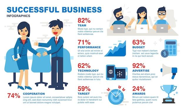 Erfolgreiches geschäft infografiken