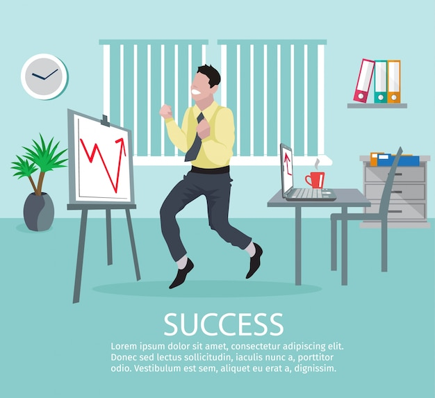 Erfolgreiches geschäfts-ideen-plakat