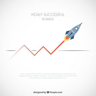Erfolgreiches geschäftsinfografik