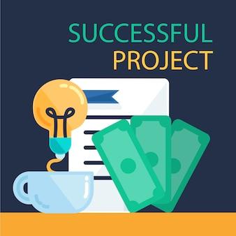 Erfolgreiches projektbanner