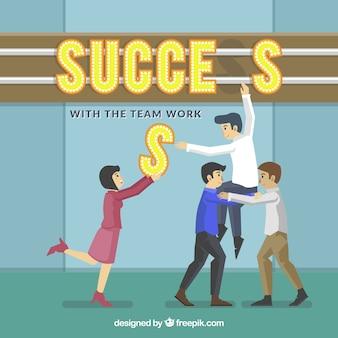 Erfolgreiches team