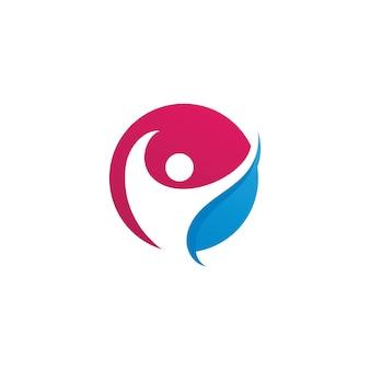 Erfolgsmenschen kümmern sich um logo-icon-vorlage