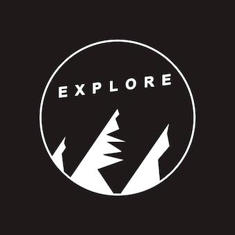 Erforschen sie reise-grafik-ikonen-konzept