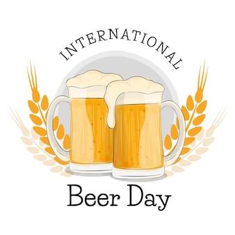 Erfrischender internationaler biertag für getränke