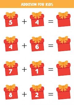 Ergänzung mit weihnachtsgeschenkboxen.