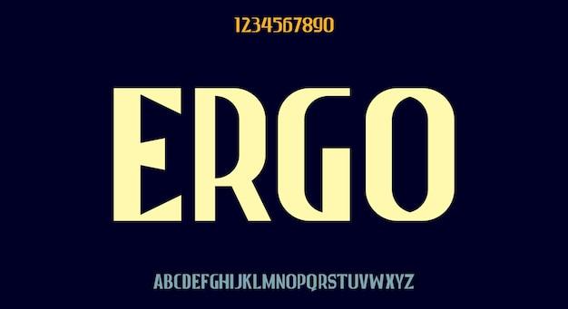 Ergo, hohe fettdruckschrift, modernes schriftdesign