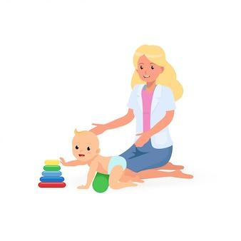 Ergotherapeutische behandlungssitzung für das screening der kindlichen entwicklung