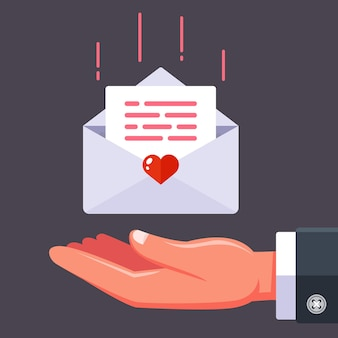Erhalte einen liebesbrief von deiner geliebten