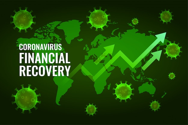 Erholung der finanzwirtschaft nach dem coronavirus impact design