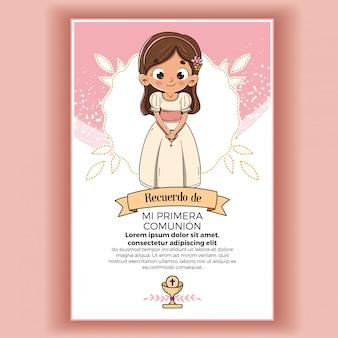 Erinnerung an das erstkommunionmädchen